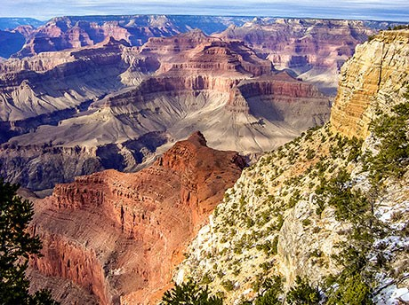 Grand Canyon South Rim beauty from the air