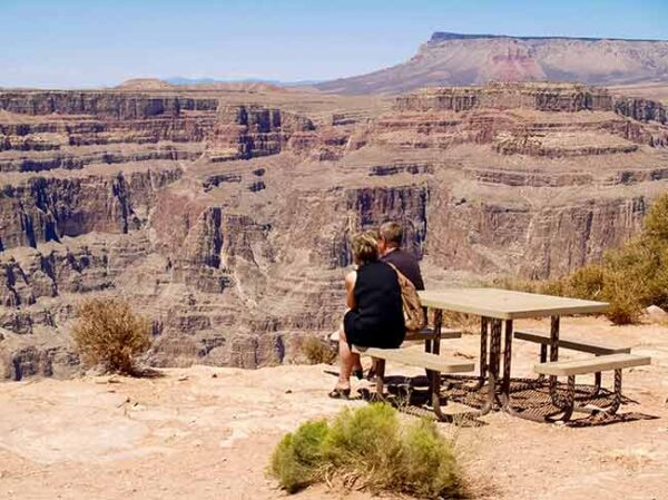 At the edge of the West Rim expreienced on the West Rim VIP Tour