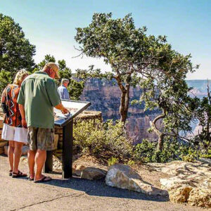 Grand Canyon South Rim Bus scenic overlook
