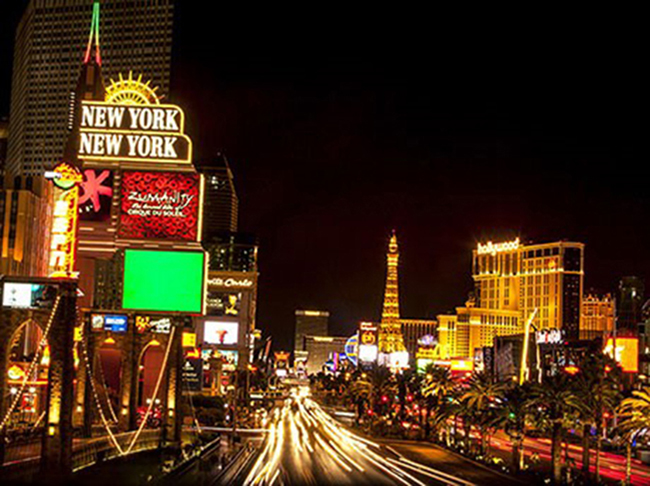 Spectacular views of the Las Vegas Night Life